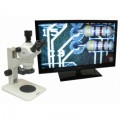 Unitron Z850 Stereo Microscope on Plain Focusing Stand with HD Camera and LED Ring Illuminator